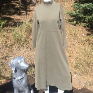 L.L. Bean Long Sleeve Turtleneck Green Dress